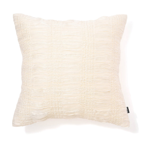 FRILL J CUSHION COVER 45 White