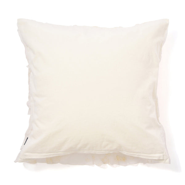 FRILL U CUSHION COVER 45 White