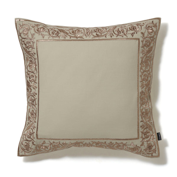 FF BA CUSHION COVER 45 LIGHT BEIGE X GOLD