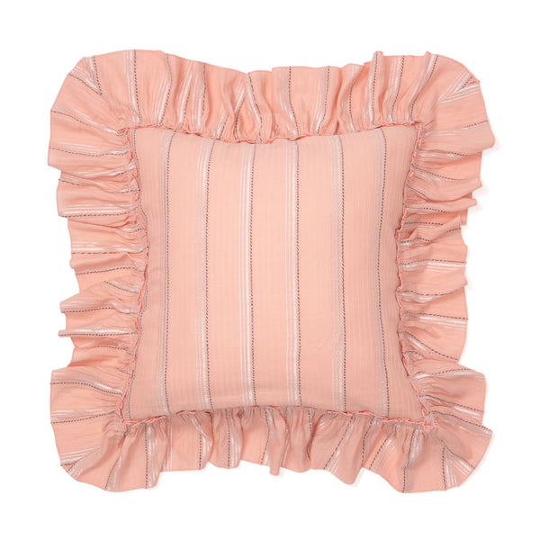 FRILL RELEX CUSHION COVER 45 Pink