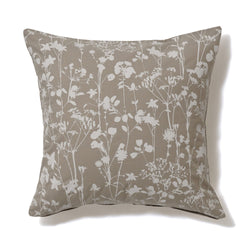 FLOWR PRINT CUSHION COVER 45 GRAY