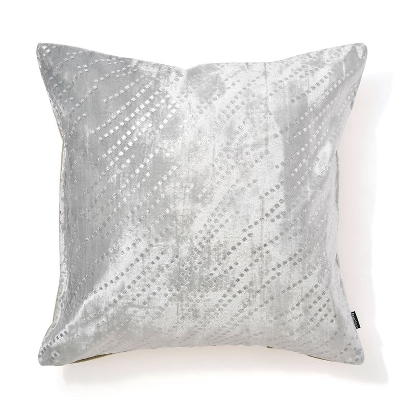 SHINY CUSHION COVER 45 Gray X Silver