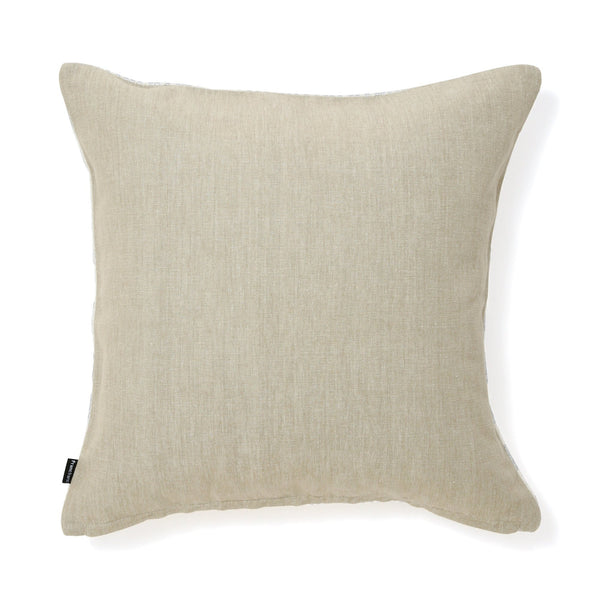 SHINY CUSHION COVER 45 White X Silver