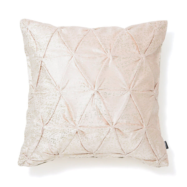 SMOCKING CUSHION COVER 45 Light Pink X Gold