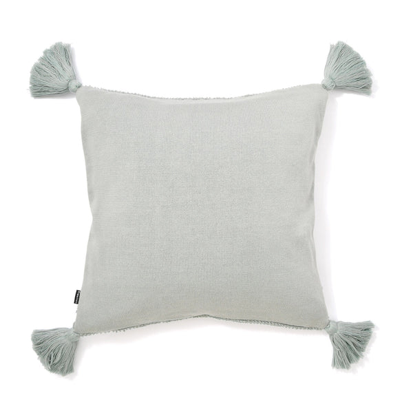 KNIT BR CUSHION COVER 45 BLUE
