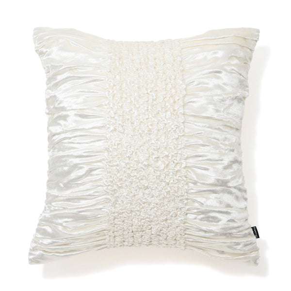 SMOCKING CUSHION COVER 45 White