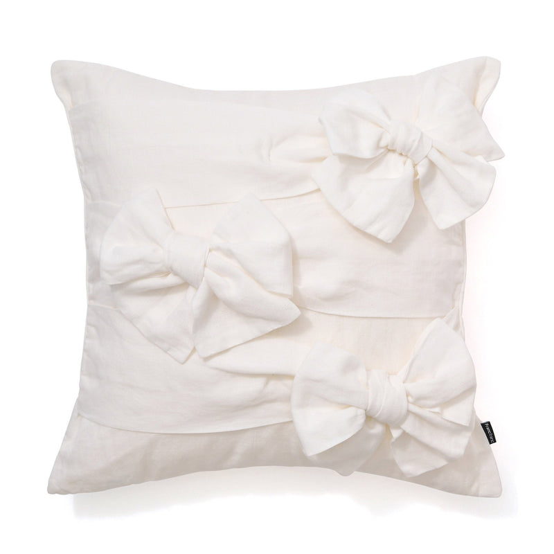 3D RIBBON CUSHION COVER 45 White