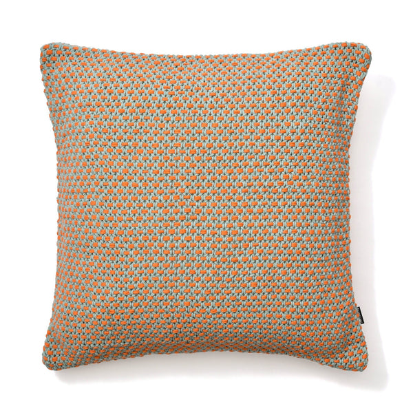 KNIT CUSHION COVER 45 Green X Orange