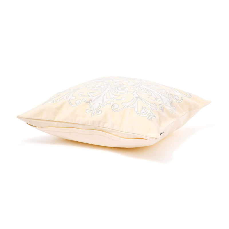 EMB ORNAMENT CUSHION COVER 45 White