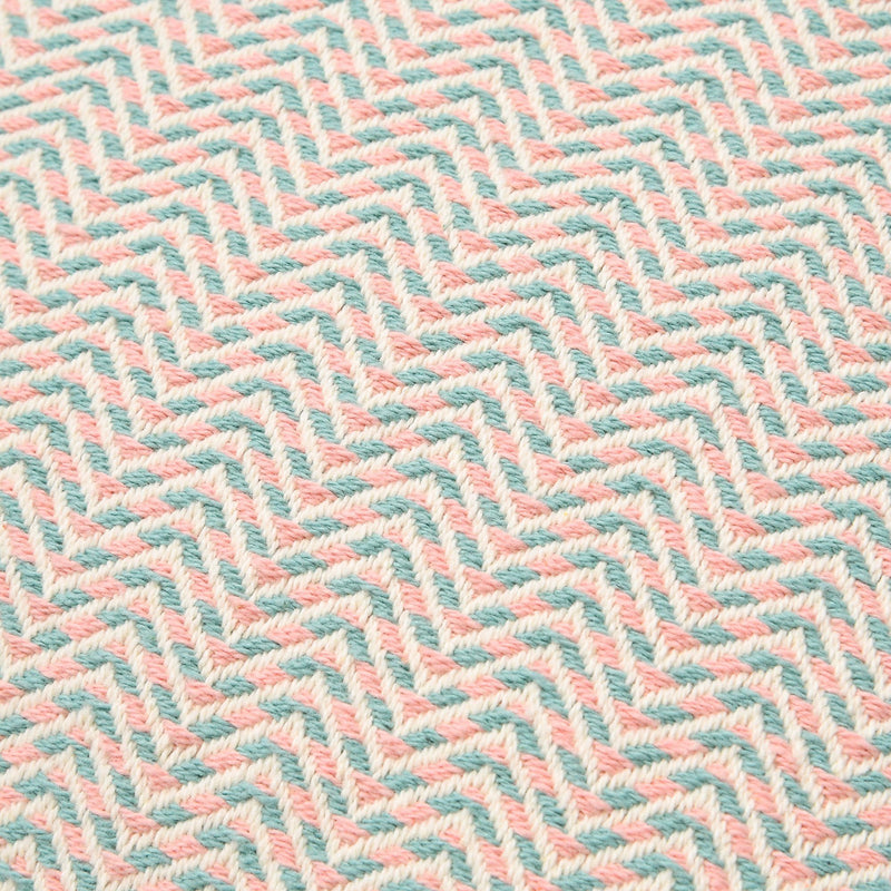 WEAVE ZIGZAG CUSHION COVER 45 PINK X BLUE