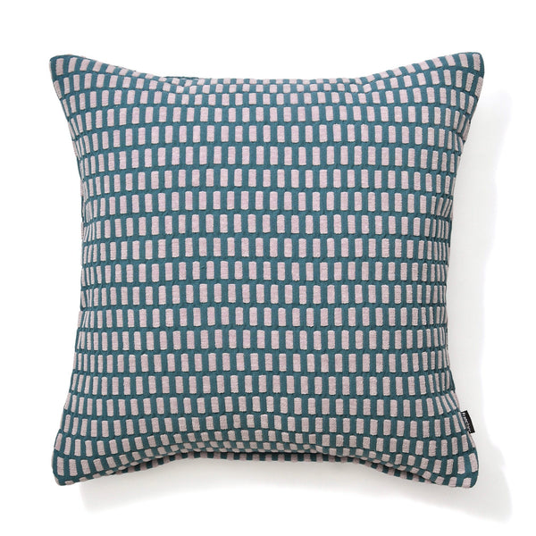 WEAVE CHECK CUSHION COVER 45 Purple X Blue