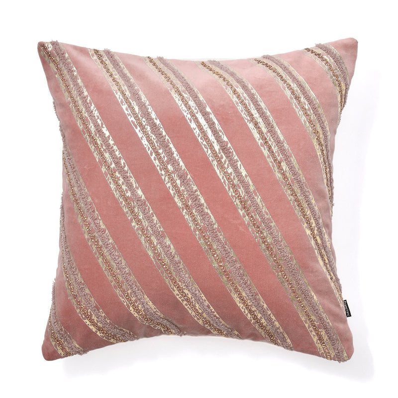 BEADS CUSHION COVER 45 PINK
