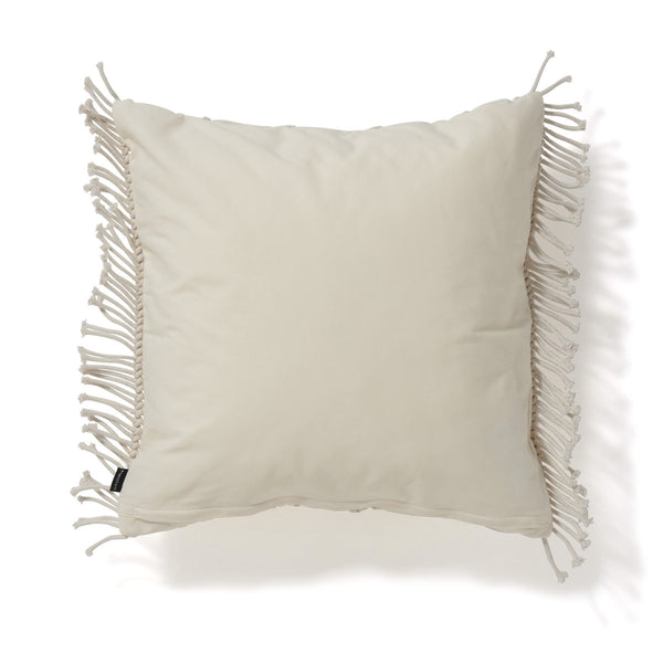 MACRAME CUSHION COVER 45 WHITE
