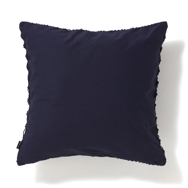 MACRAME CUSHION COVER 45 NAVY
