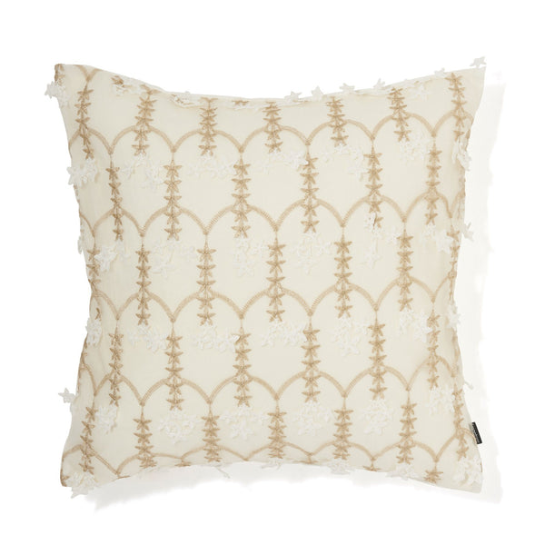EMB LACE BV CUSHION COVER 45 WHITE X GOLD