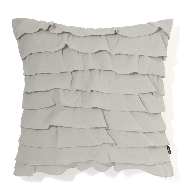 FRILL C CUSHION COVER 45 Gray