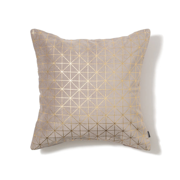 LINERY CUSHION COVER Gray x Gold