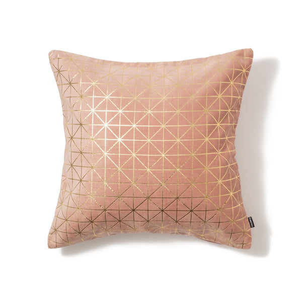 LINERY CUSHION COVER Light Pink x Gold