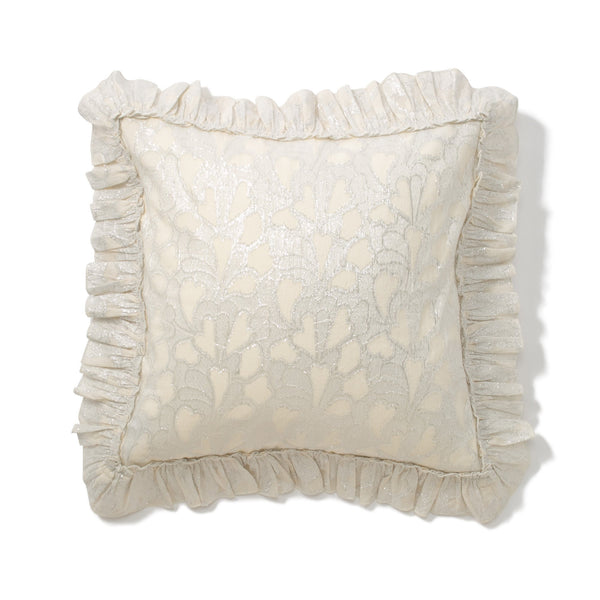 HEARTINA CUSHION COVER White