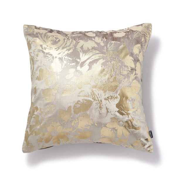 GLOVELY CUSHION COVER Beige x Gold