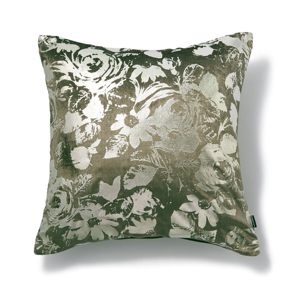 GLOVELY CUSHION COVER KHAKI X GOLD