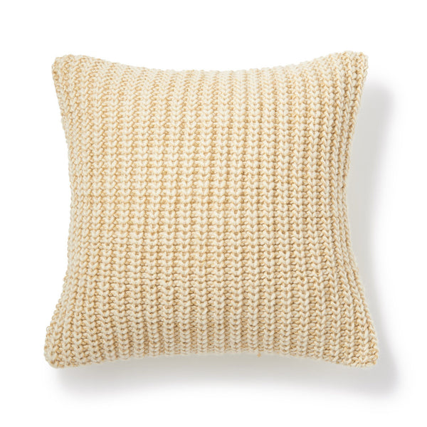 KNITA CUSHION COVER White x Gold