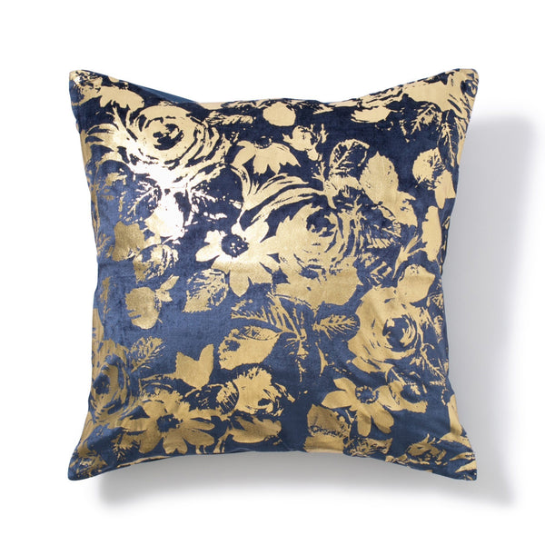 GLOVELY CUSHION COVER Navy x Gold