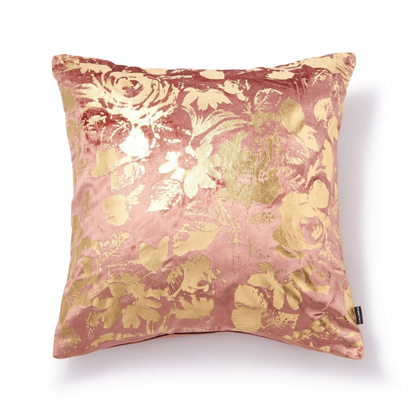 GLOVELY CUSHION COVER Pink x Gold