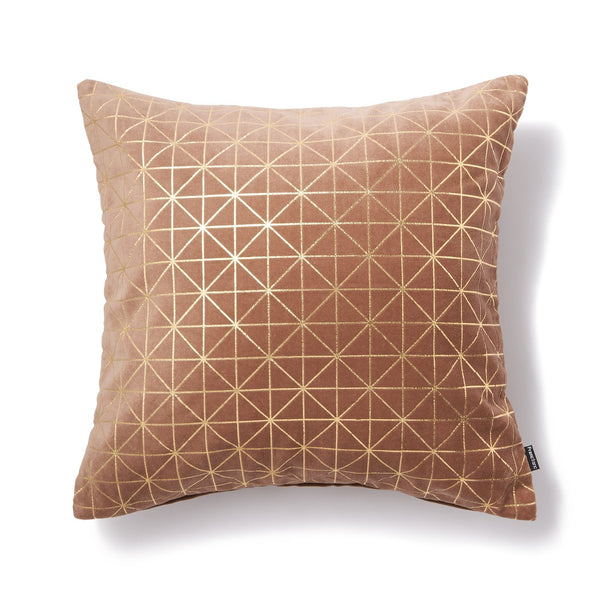 LINERY CUSHION COVER Pink x Gold