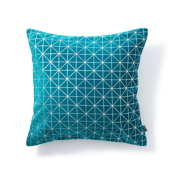 LINERY CUSHION COVER Green x Sliver