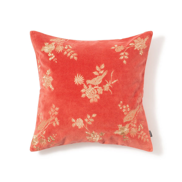 BIRDAY CUSHION COVER RED
