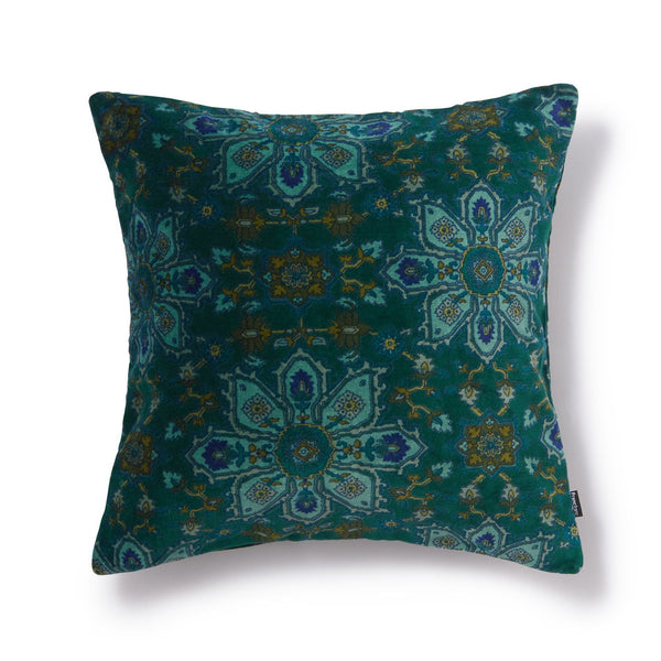 LEAFEN CUSHION COVER GREEN