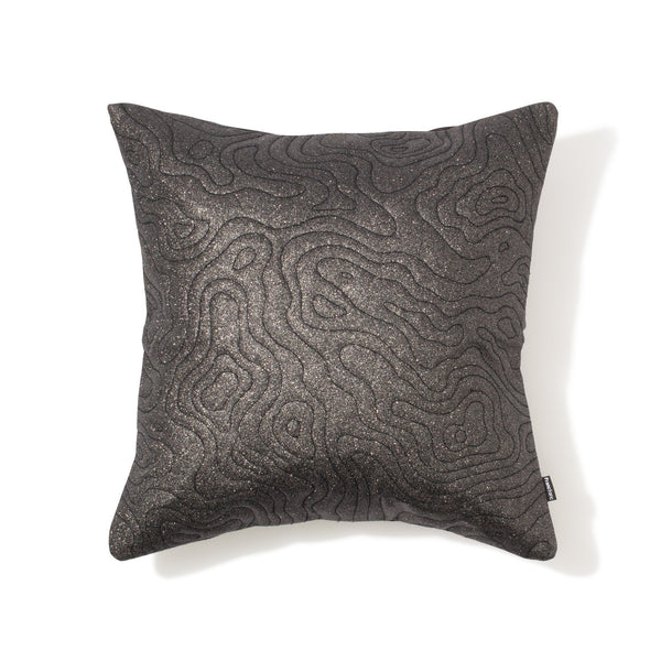 GLITTELT CUSHION COVER BLACK