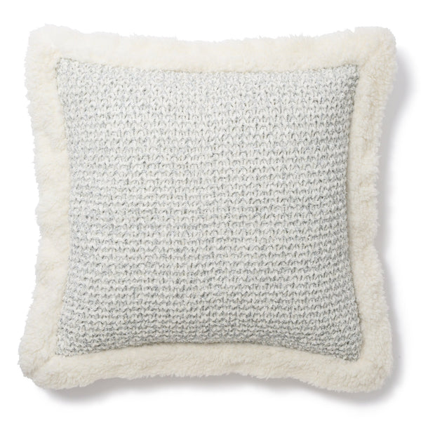 FASIRO CUSHION COVER White x Sliver
