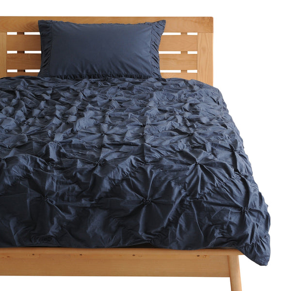 RUFFILI Comforter Case Double Navy