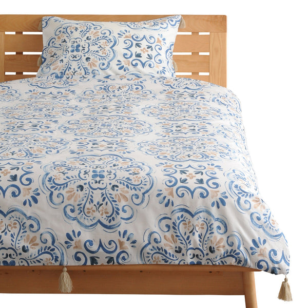 LUMIELLE Comforter Case Double Blue