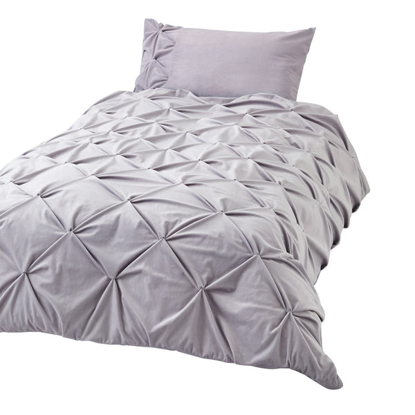 CALIN Comforter Case Single Gray