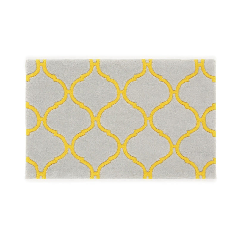 IRUA Mat Light Gray x Yellow (W800 x D500)
