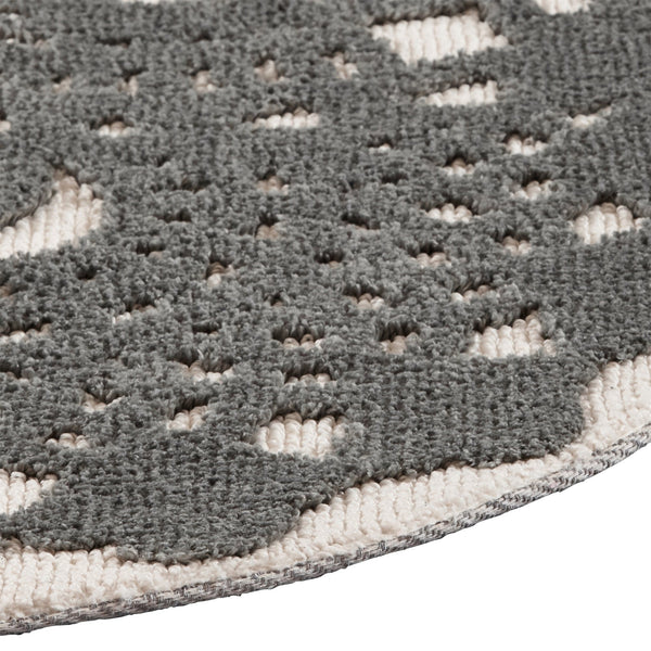 LACY ROUND RUG GRAY (φ1500)
