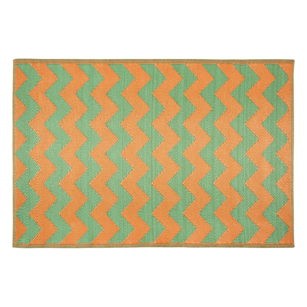 TUTTIFUL RUG 120x180 Green x Orange