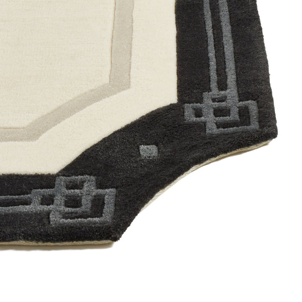 CHARMEE RUG  Small Ivory x Dark Gray