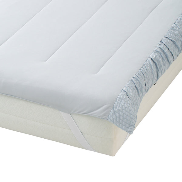FUWARO BED PAD GATHER 140 BLUE