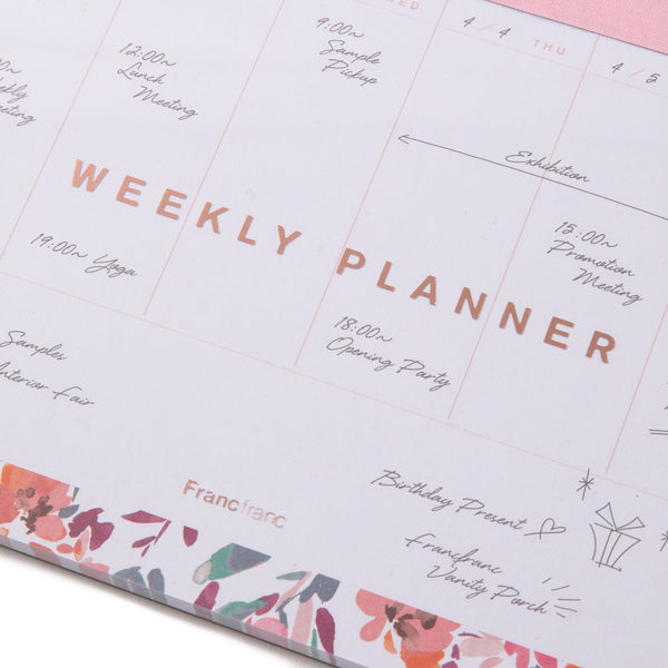 FLORESIA WEEKLY PLANNER A5 PK