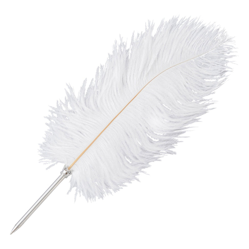 BIG FEATHER PEN WHITE