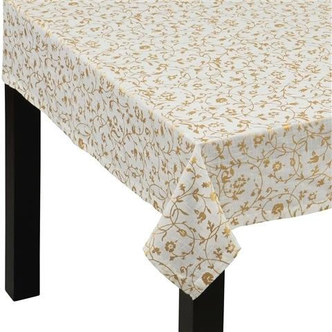 KEYSHA TABLE CLOTH 130x130 Gold