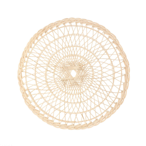 RATTAN CIRCLE LUNCH MAT BEIGE