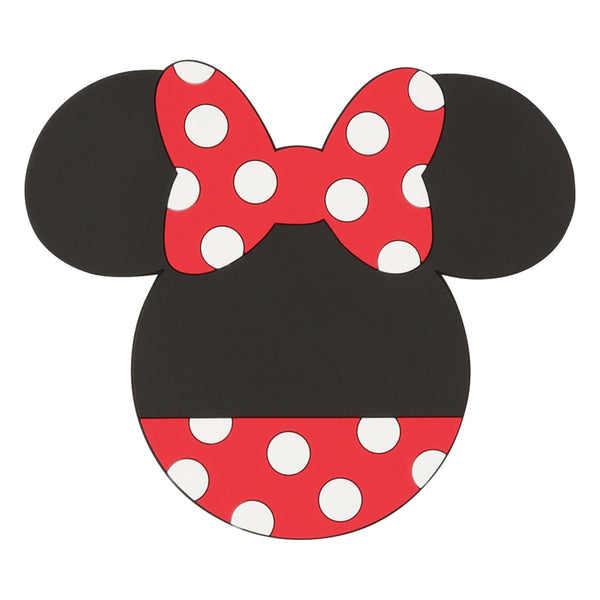 DSY MINNIE ICON COASTER BLACK X RED