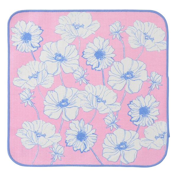 FLOWER Border Dish Cloth 2P Set Pink