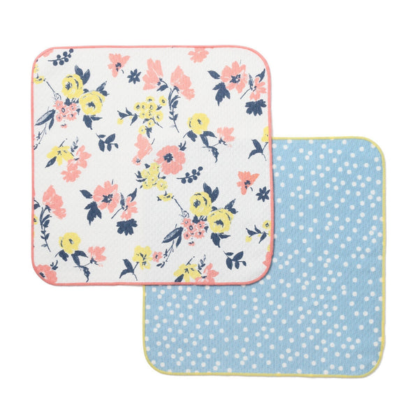 BLOSSOM DOT DISH CLOTH 2P White