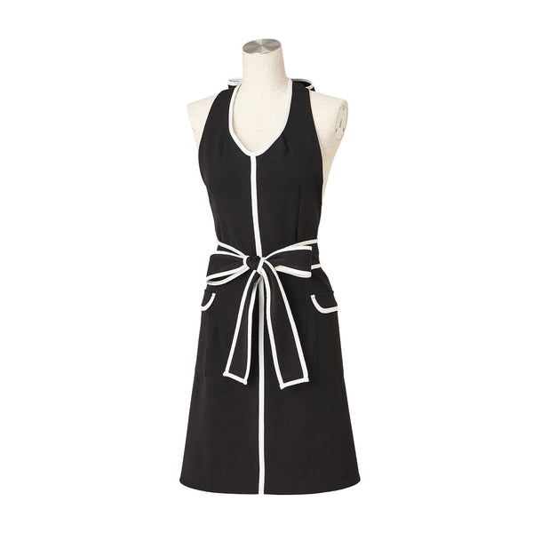 WHITE LINE FULL APRON Black